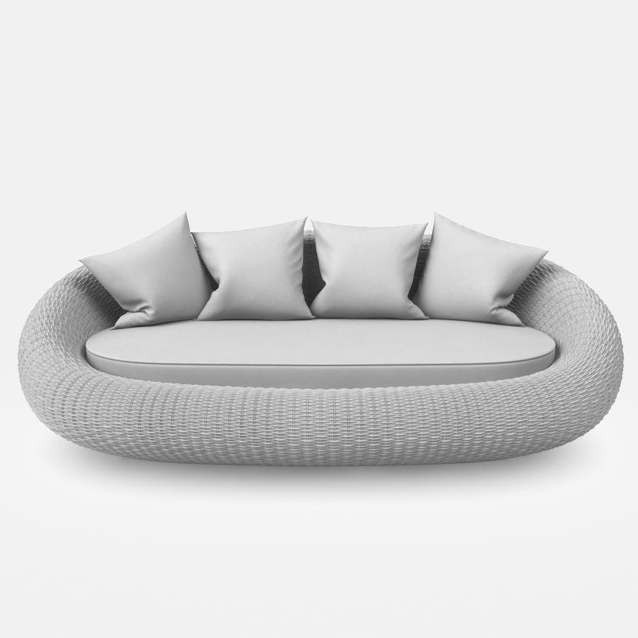Rattan Furniture Kiwi royalty-free 3d model - Preview no. 17
