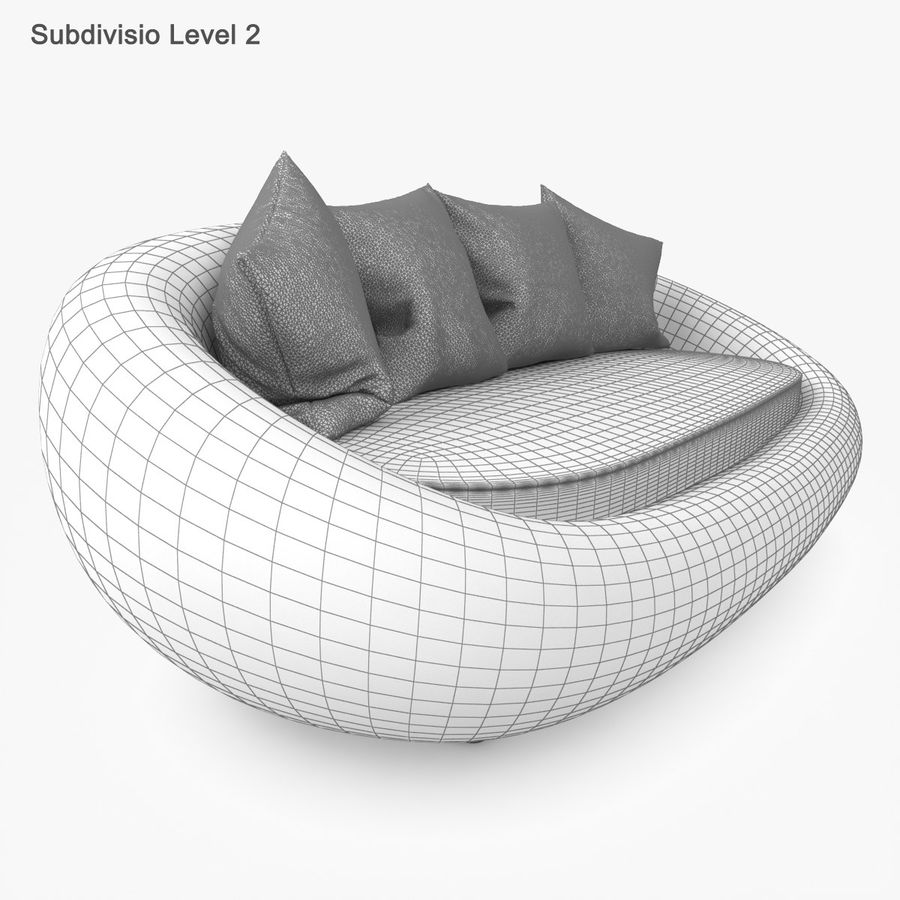 Rattan Furniture Kiwi royalty-free 3d model - Preview no. 49
