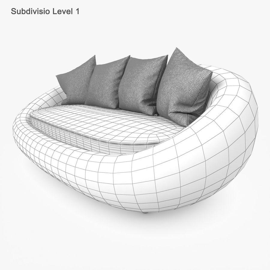 Rattan Furniture Kiwi royalty-free 3d model - Preview no. 40