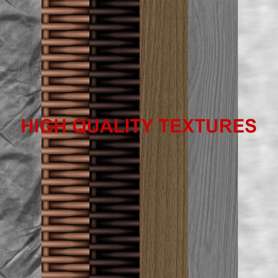 Rattan Furniture Kiwi royalty-free 3d model - Preview no. 11