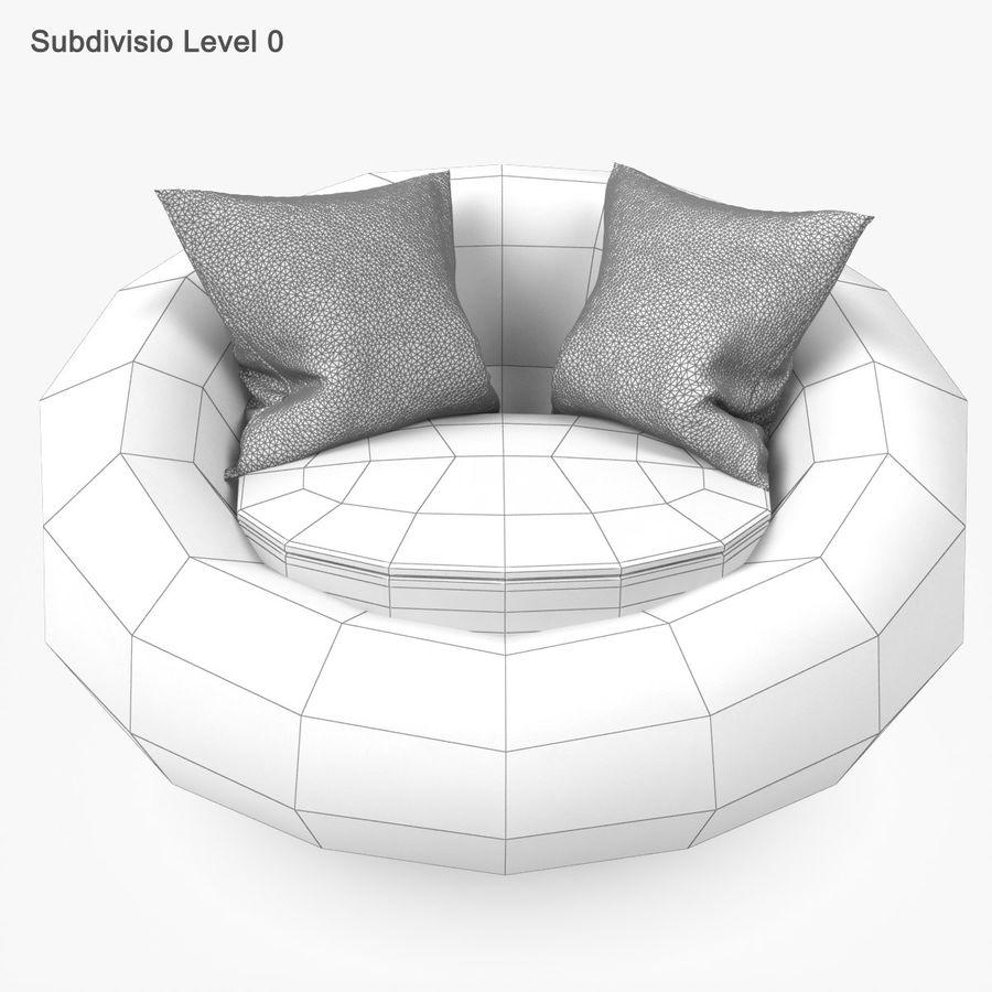Rattan Furniture Kiwi royalty-free 3d model - Preview no. 25