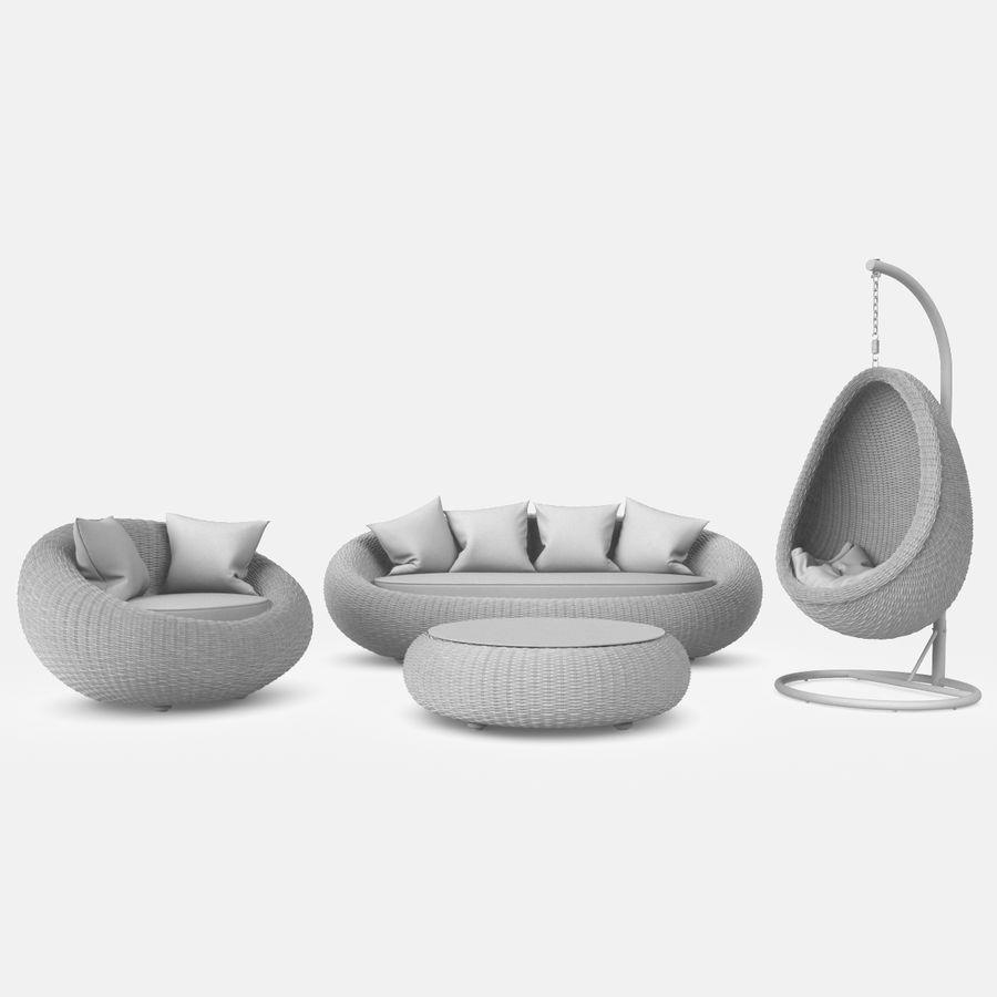 Rattan Furniture Kiwi royalty-free 3d model - Preview no. 13