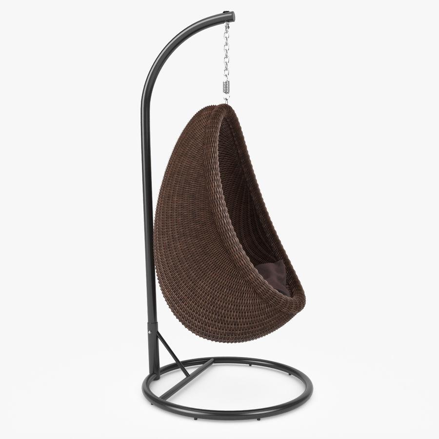 Rattan Furniture Kiwi royalty-free 3d model - Preview no. 9