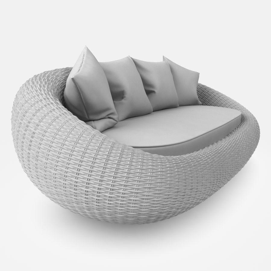 Rattan Furniture Kiwi royalty-free 3d model - Preview no. 18