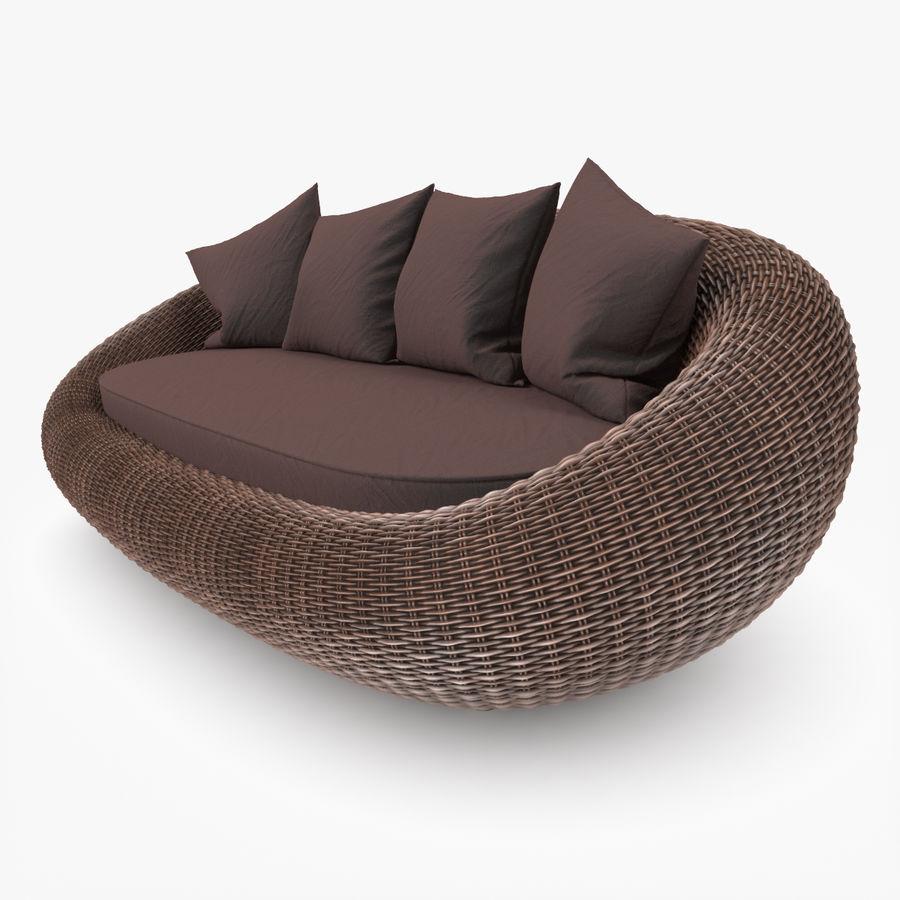 Rattan Furniture Kiwi royalty-free 3d model - Preview no. 7