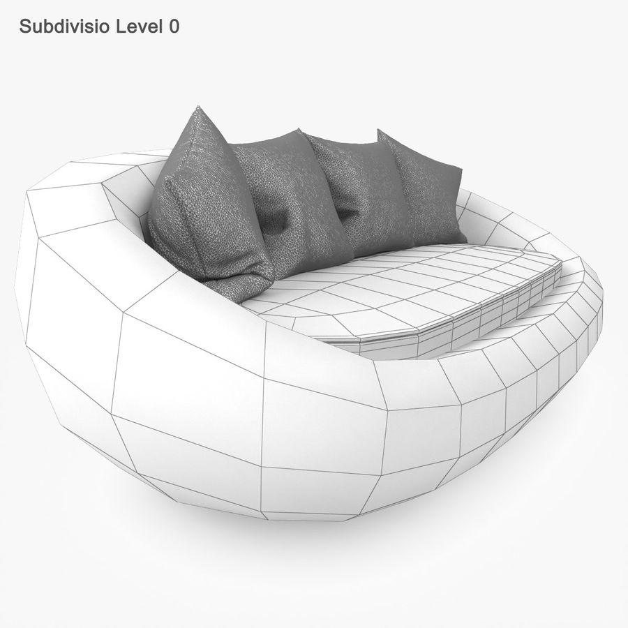 Rattan Furniture Kiwi royalty-free 3d model - Preview no. 29