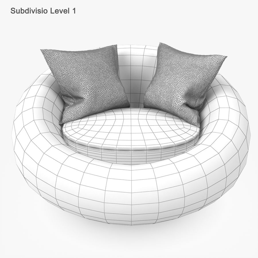 Rattan Furniture Kiwi royalty-free 3d model - Preview no. 35