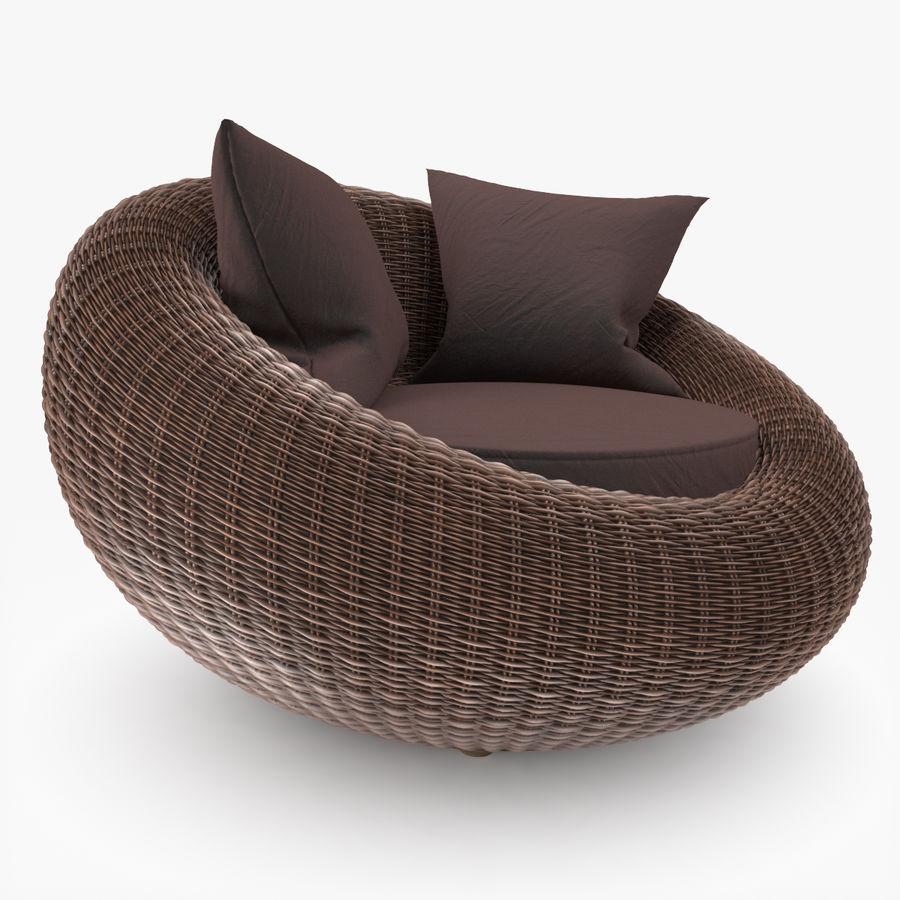 Rattan Furniture Kiwi royalty-free 3d model - Preview no. 4