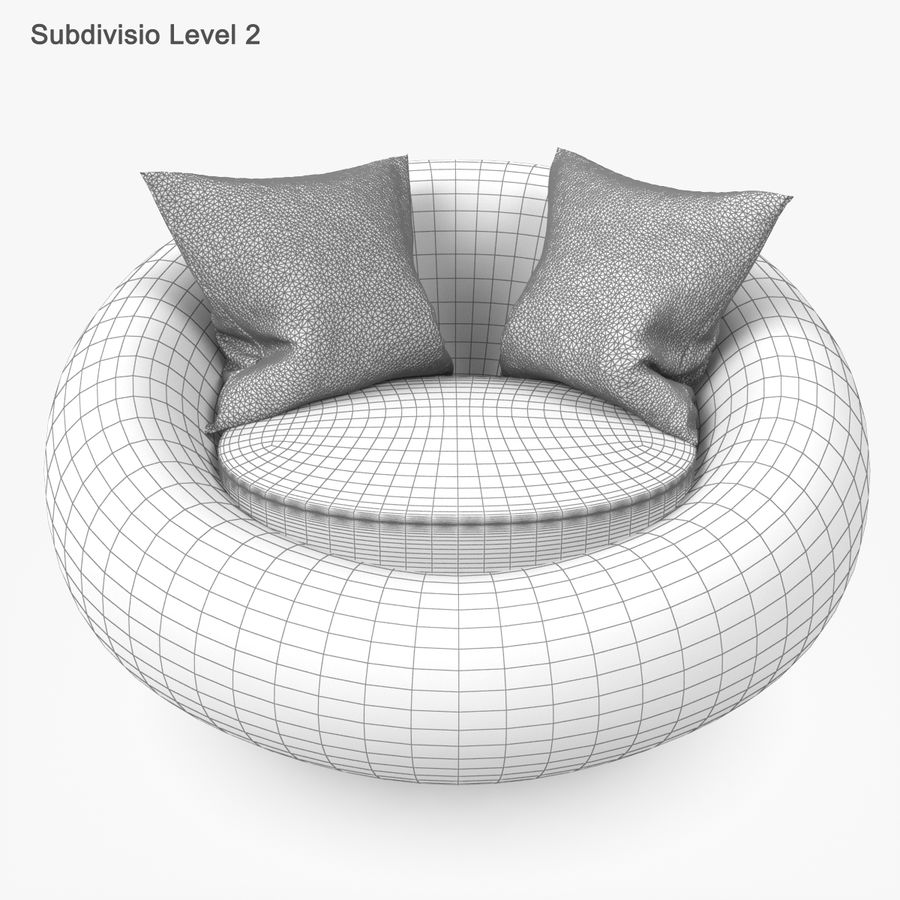 Rattan Furniture Kiwi royalty-free 3d model - Preview no. 45