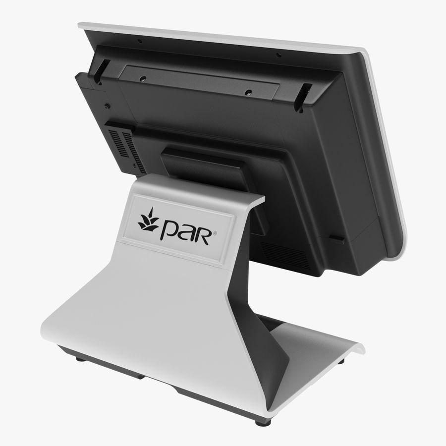 POS-Terminal EverServ 7000 royalty-free 3d model - Preview no. 8