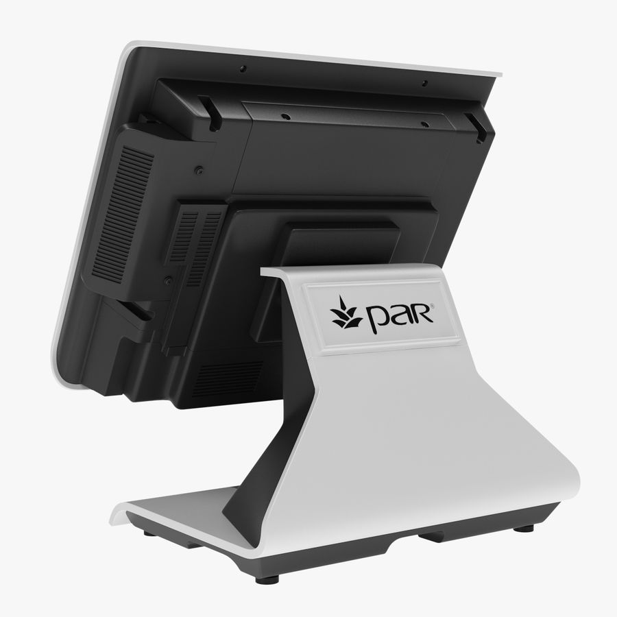 POS-Terminal EverServ 7000 royalty-free 3d model - Preview no. 4