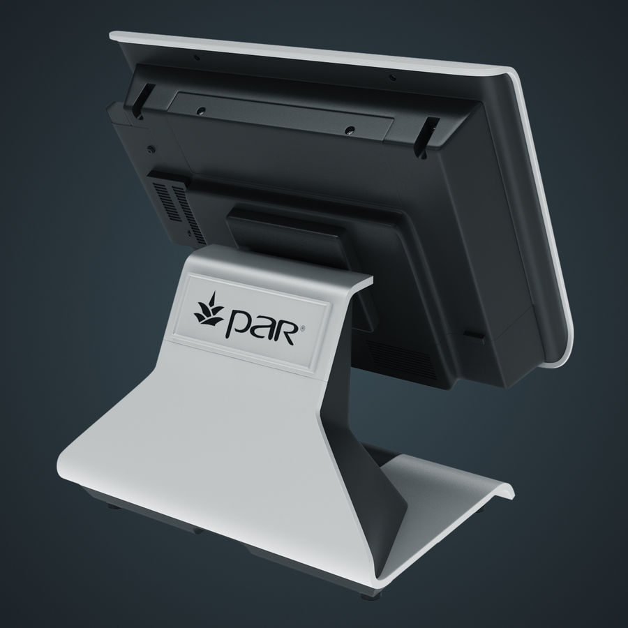 POS-Terminal EverServ 7000 royalty-free 3d model - Preview no. 13