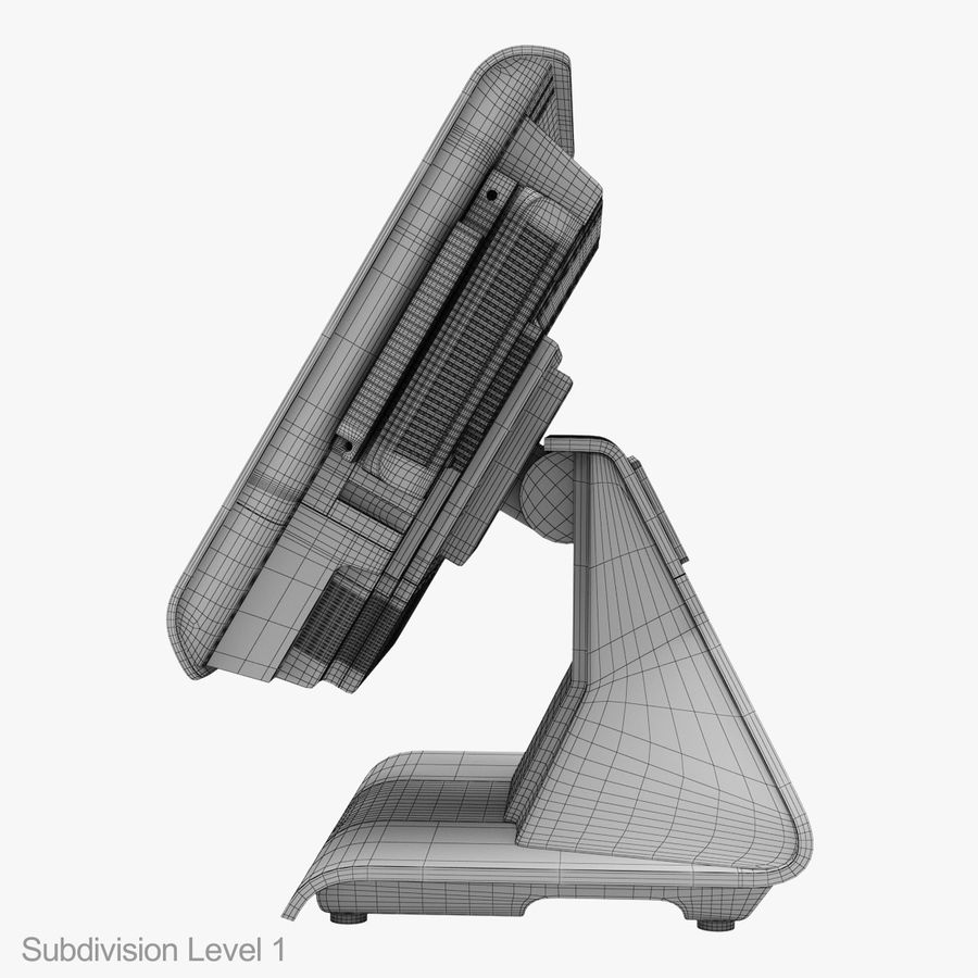 POS-Terminal EverServ 7000 royalty-free 3d model - Preview no. 30