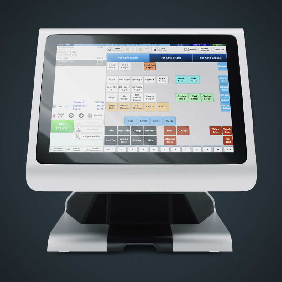 POS-Terminal EverServ 7000 royalty-free 3d model - Preview no. 10