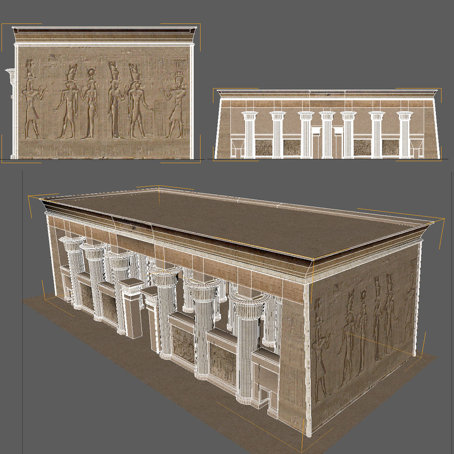 Egyptian Temple royalty-free 3d model - Preview no. 7