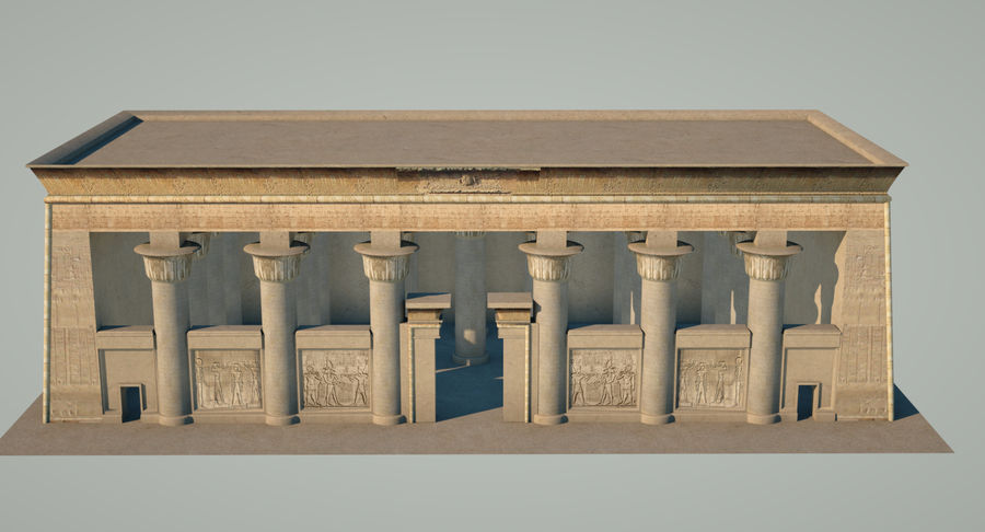 Egyptian Temple royalty-free 3d model - Preview no. 5