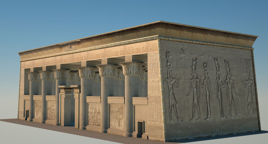 Egyptian Temple royalty-free 3d model - Preview no. 1