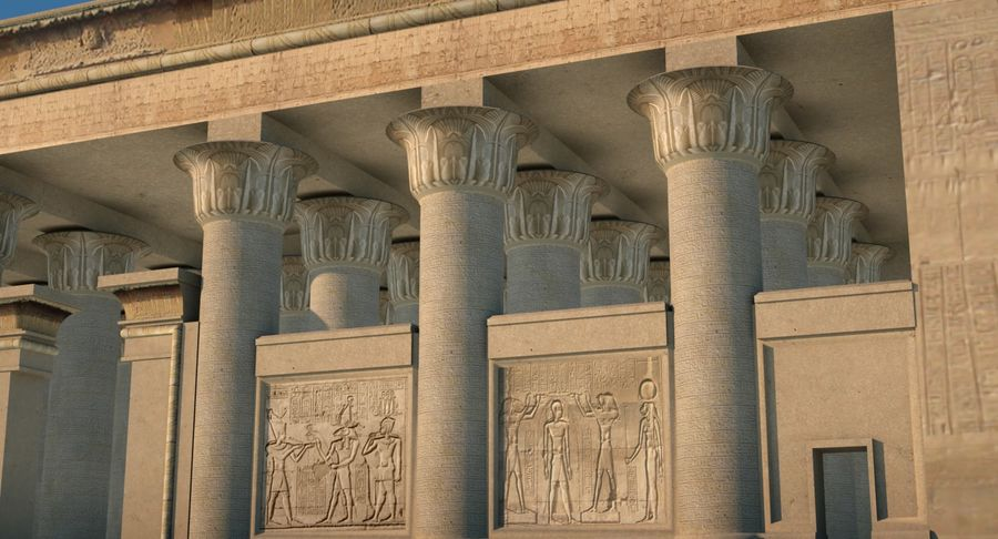 Egyptian Temple royalty-free 3d model - Preview no. 2