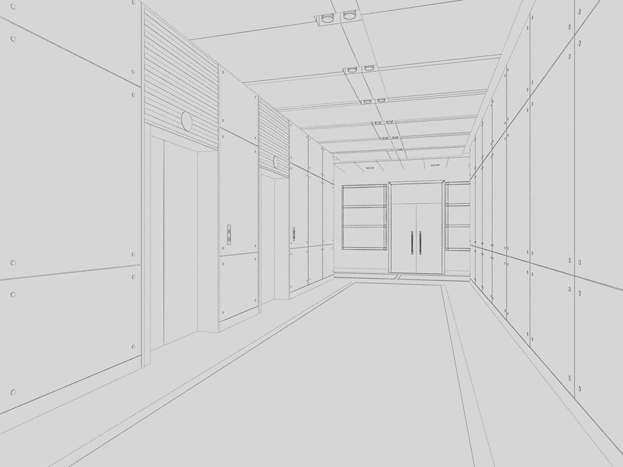interior 02 royalty-free 3d model - Preview no. 3
