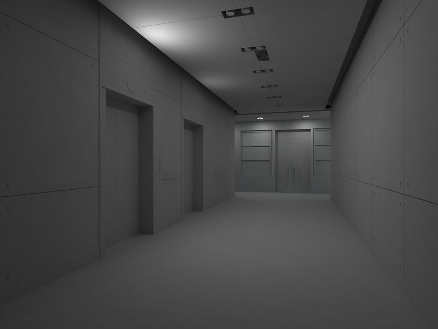 interior 02 royalty-free 3d model - Preview no. 2