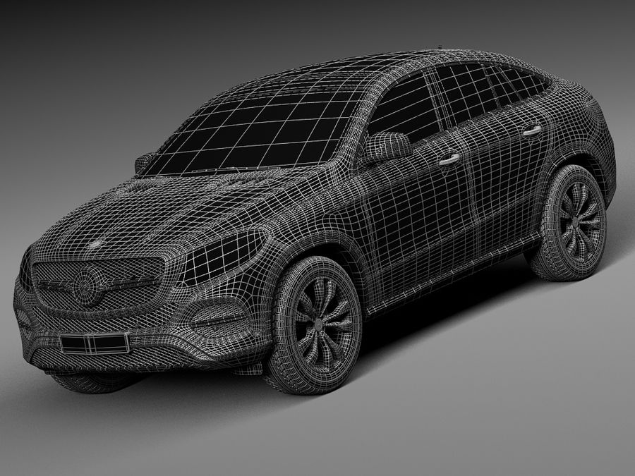 Mercedes-Benz GLE Coupe 2016 royalty-free 3d model - Preview no. 15