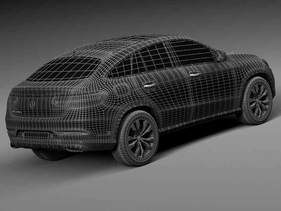 Mercedes-Benz GLE Coupe 2016 royalty-free 3d model - Preview no. 16
