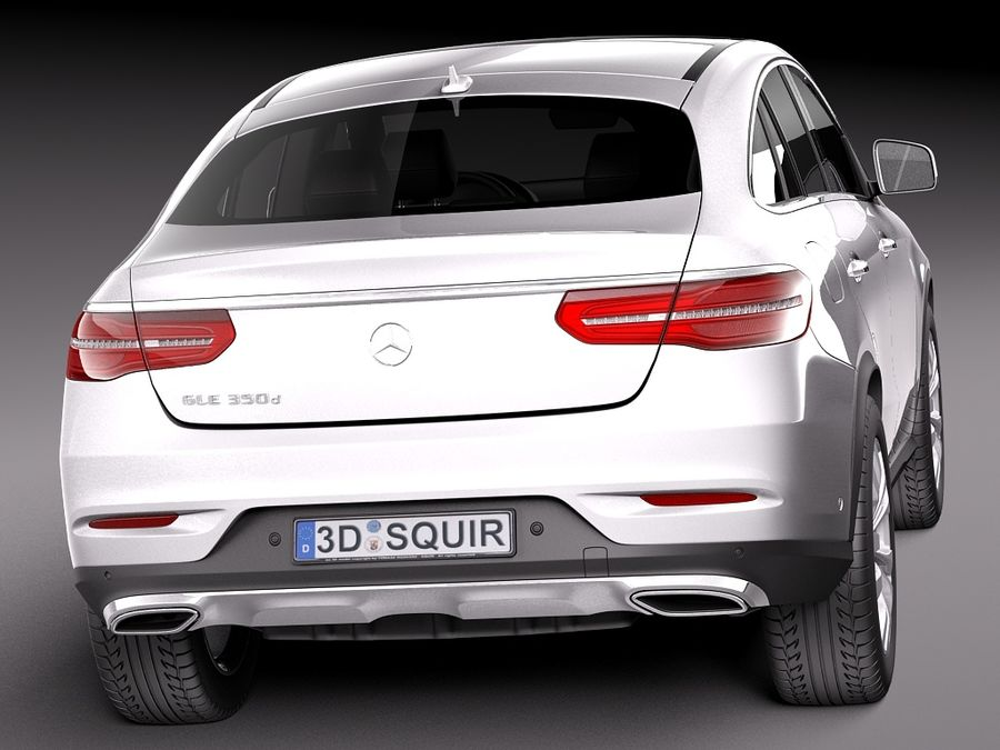 Mercedes-Benz GLE Coupe 2016 royalty-free 3d model - Preview no. 6