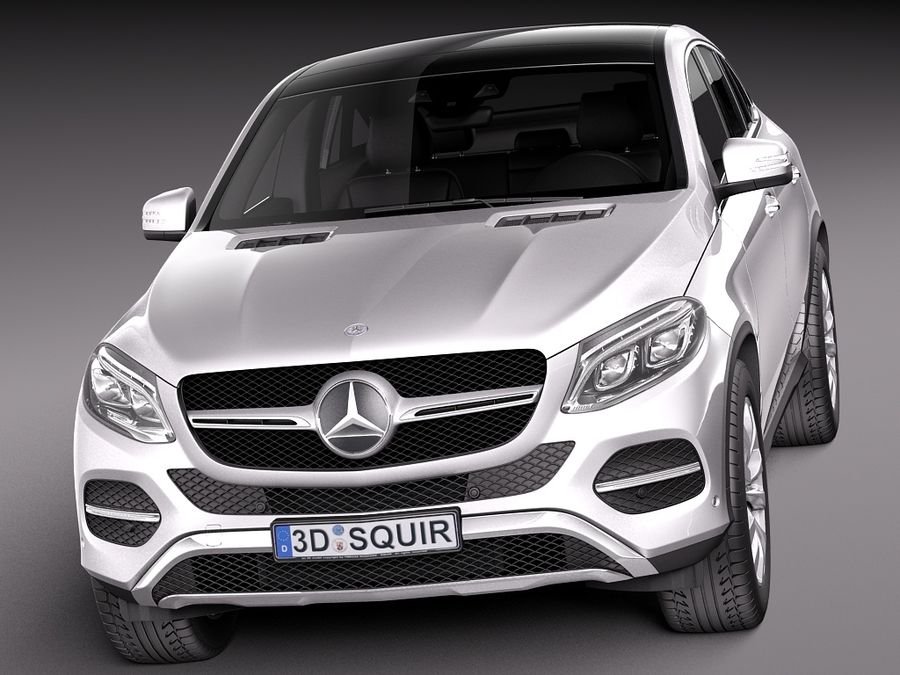 Mercedes-Benz GLE Coupe 2016 royalty-free 3d model - Preview no. 2