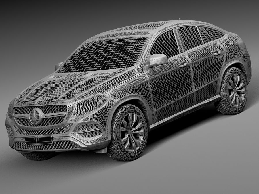 Mercedes-Benz GLE Coupe 2016 royalty-free 3d model - Preview no. 13
