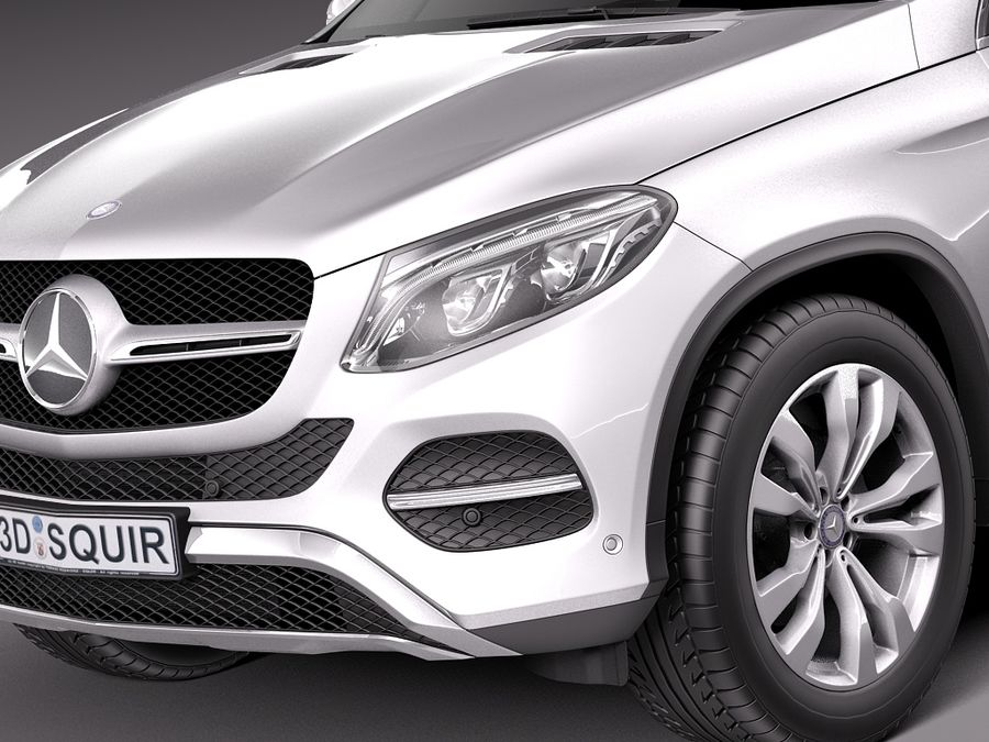 Mercedes-Benz GLE Coupe 2016 royalty-free 3d model - Preview no. 3