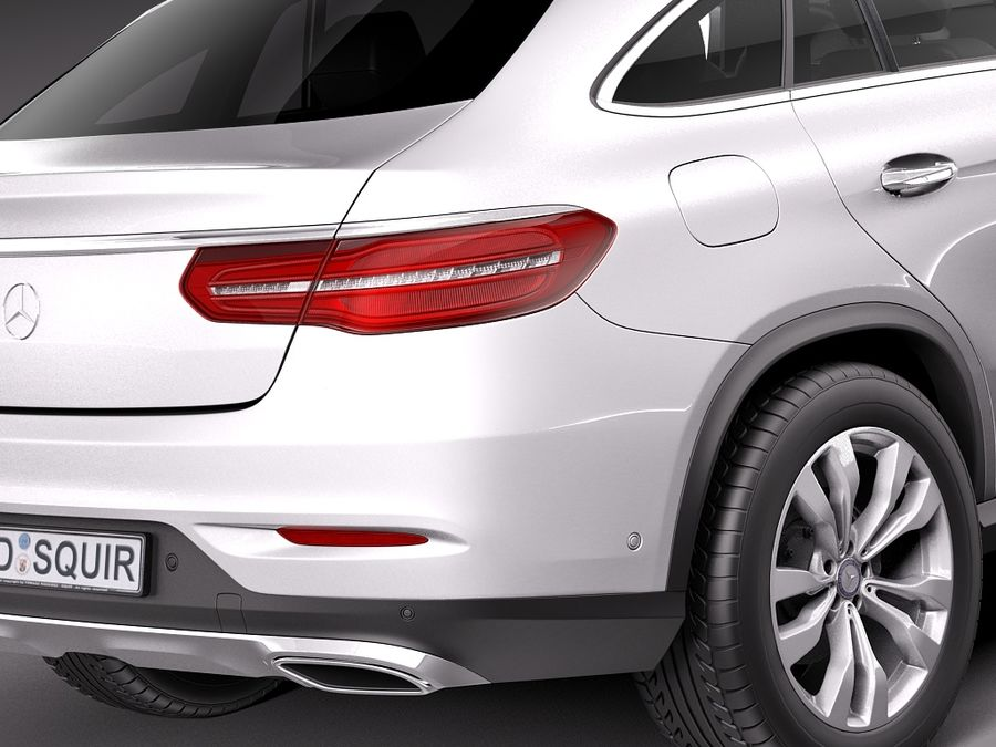 Mercedes-Benz GLE Coupe 2016 royalty-free 3d model - Preview no. 4