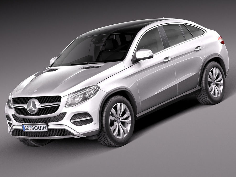 Mercedes-Benz GLE Coupe 2016 royalty-free 3d model - Preview no. 1