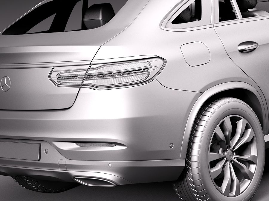 Mercedes-Benz GLE Coupe 2016 royalty-free 3d model - Preview no. 11