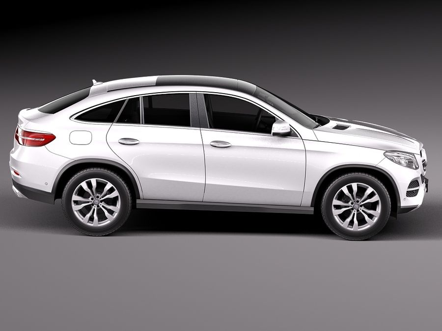 Mercedes-Benz GLE Coupe 2016 royalty-free 3d model - Preview no. 7