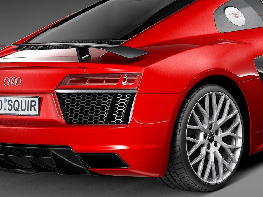 Audi R8 V10 Plus 2016 royalty-free 3d model - Preview no. 4