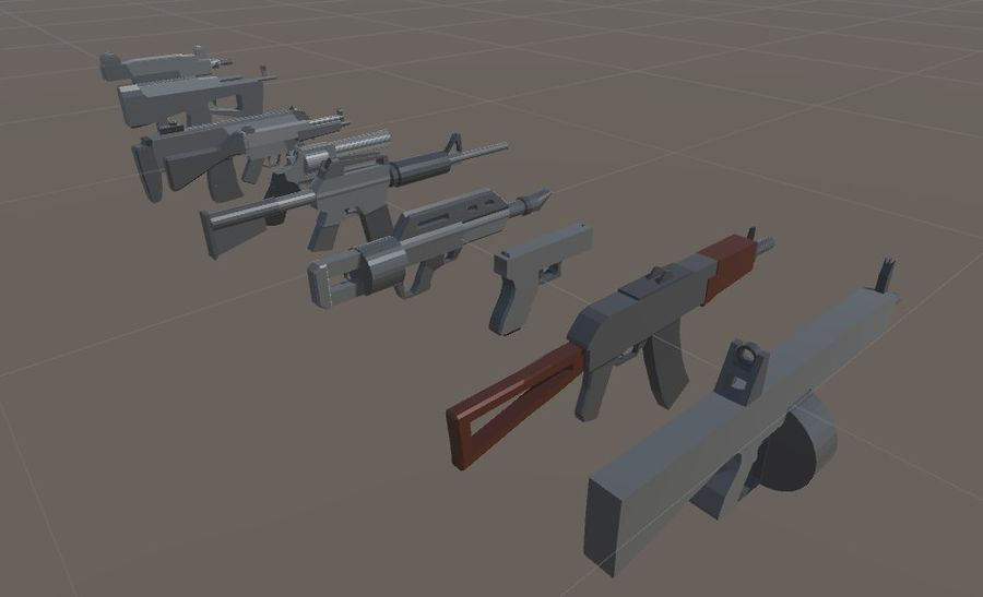 SPS Mobile Weapons Pack # 1 royalty-free 3d model - Preview no. 2