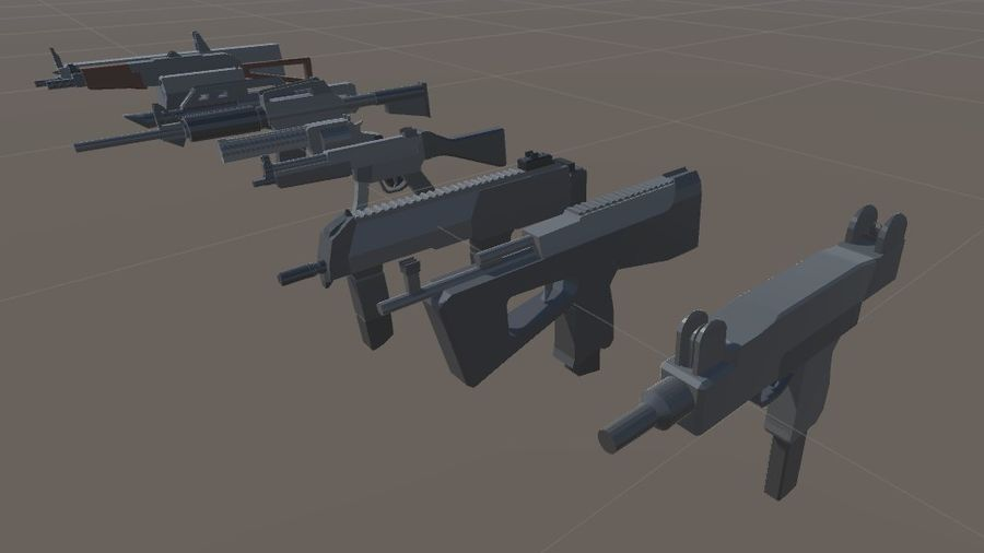 SPS Mobile Weapons Pack # 1 royalty-free 3d model - Preview no. 1