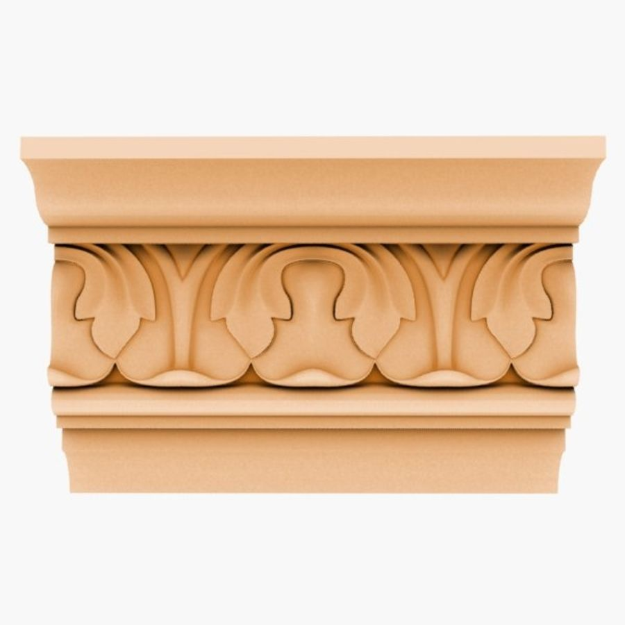 Cornice Molding 050 royalty-free 3d model - Preview no. 1