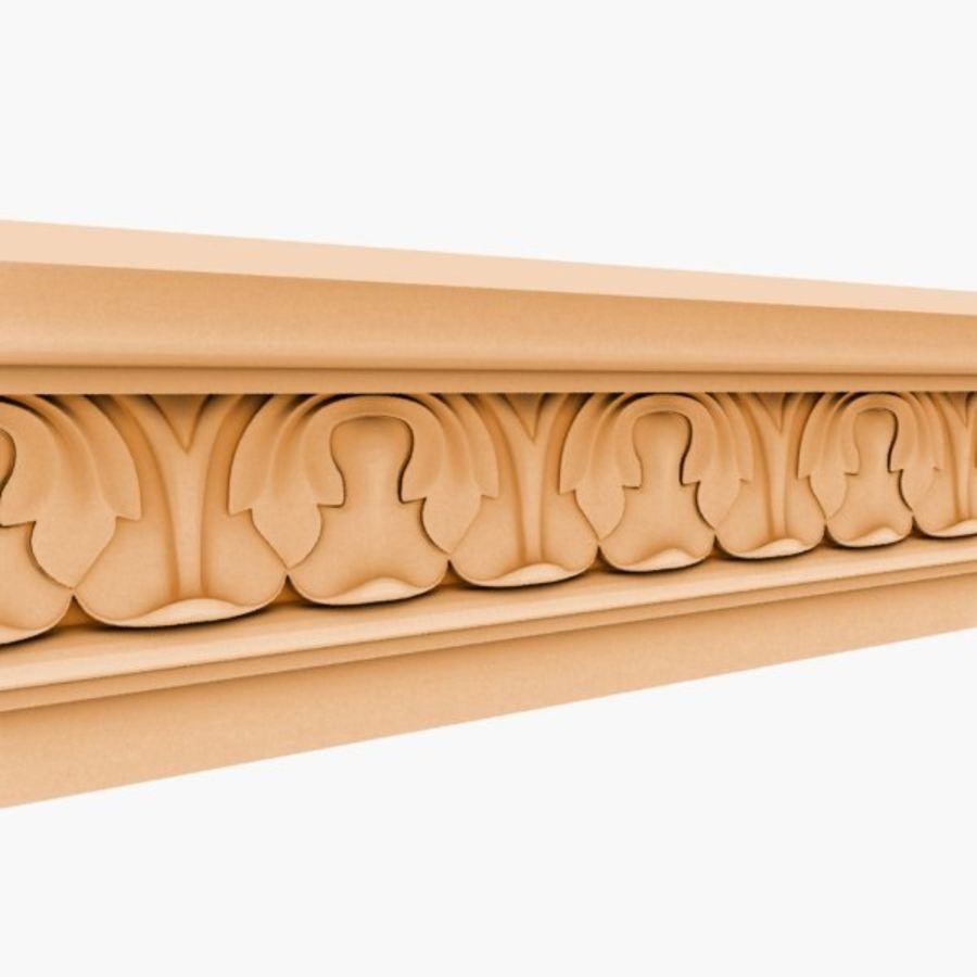 Cornice Molding 050 royalty-free 3d model - Preview no. 4