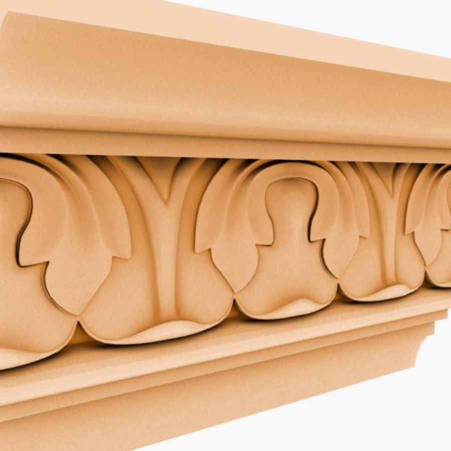 Cornice Molding 050 royalty-free 3d model - Preview no. 2