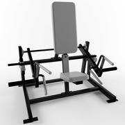 Low poly gym equipment shrug 3d model