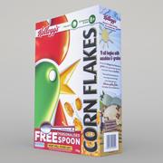 Une boîte de céréales 3d model