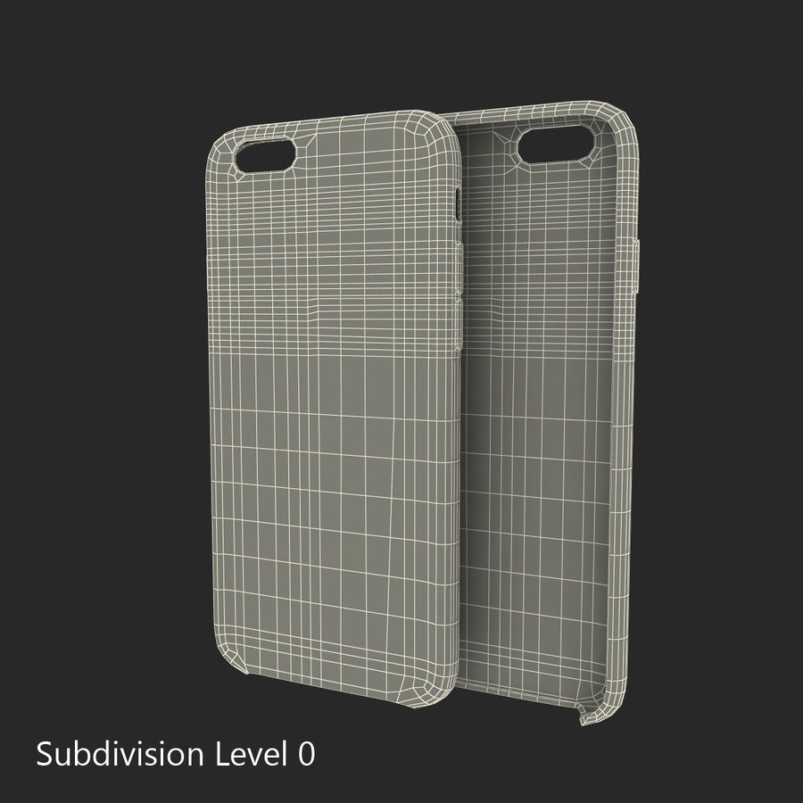 Capa em Pele MAIS para iPhone 6 Plus royalty-free 3d model - Preview no. 17