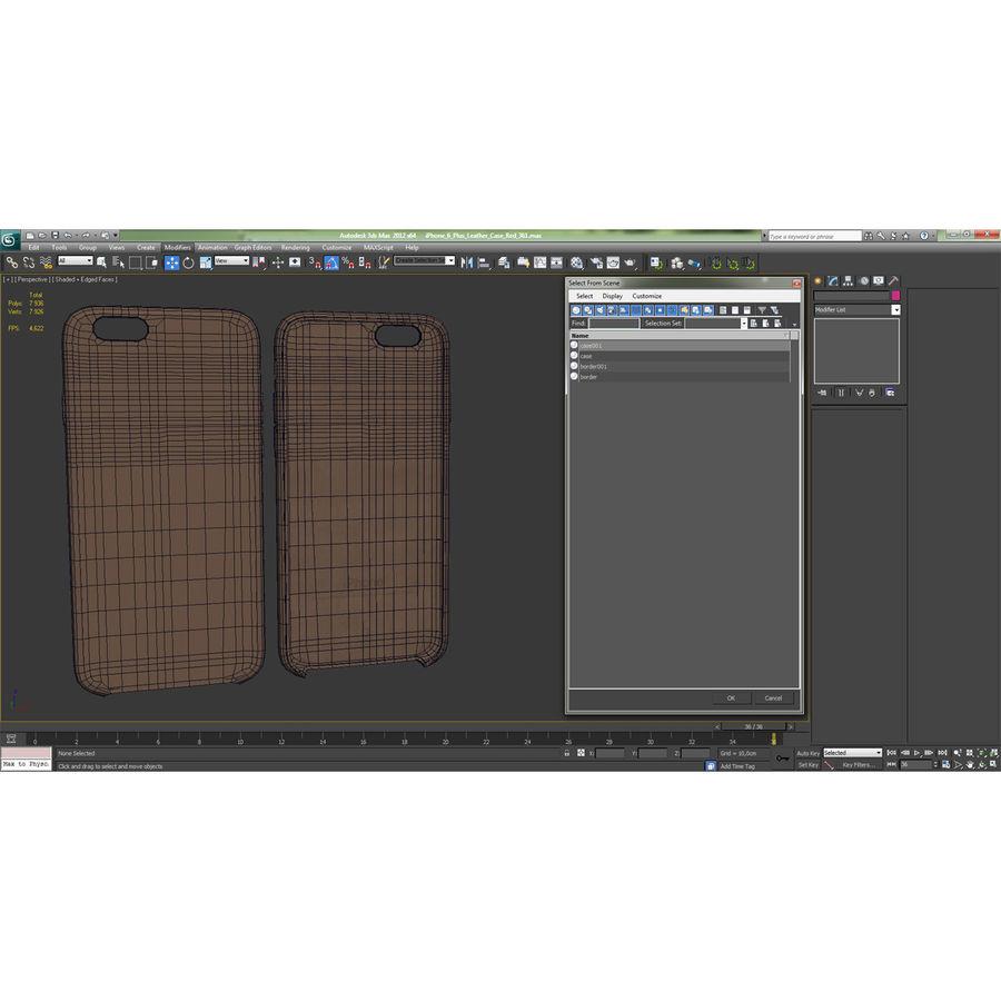 Capa em Pele MAIS para iPhone 6 Plus royalty-free 3d model - Preview no. 21