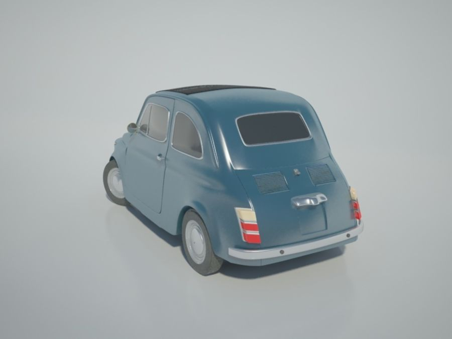 Fiat 500 royalty-free 3d model - Preview no. 3