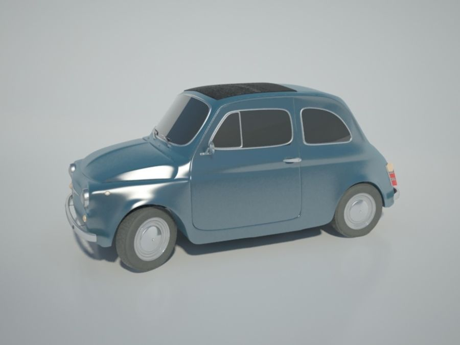 Fiat 500 royalty-free 3d model - Preview no. 4