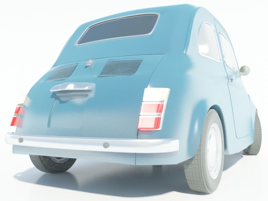 Fiat 500 royalty-free 3d model - Preview no. 6