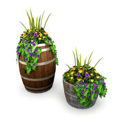 Potted Plants Bundle 1 3d model