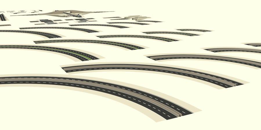 Modular city roads royalty-free 3d model - Preview no. 5