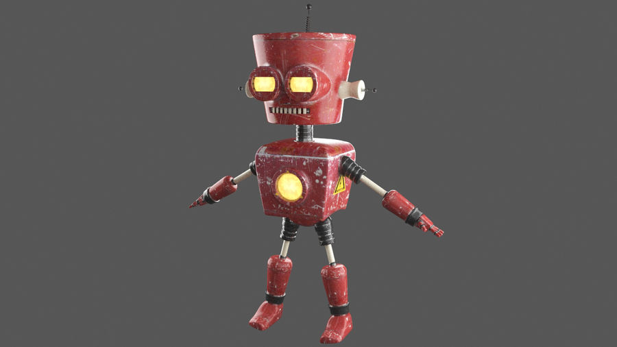 Robot royalty-free 3d model - Preview no. 2